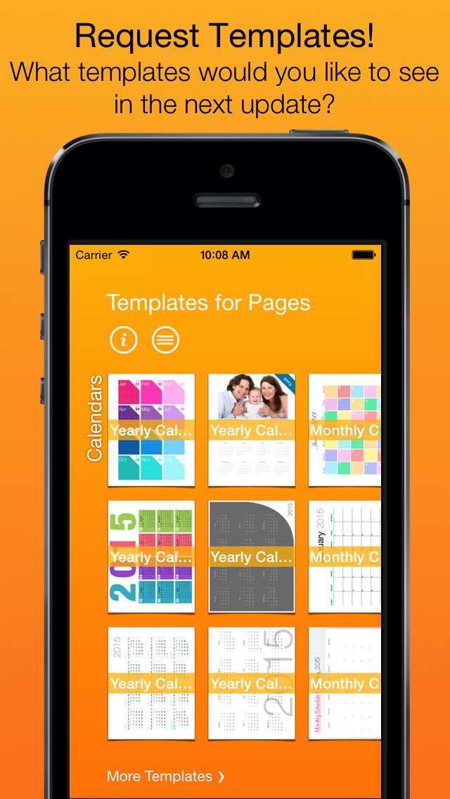 templates for pages  for ipad  iphone  ipod touch