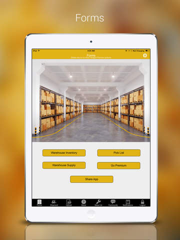 Warehouse Inventory and Shipment for iPad