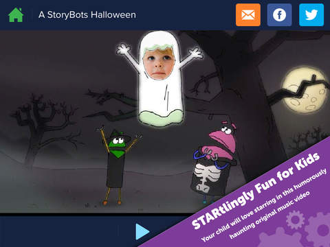 A StoryBots Halloween - Starring You as a Ghost, Vampire, Frankenstein, Werewolf & Mummy for Kids, Parents, Teachers screenshot