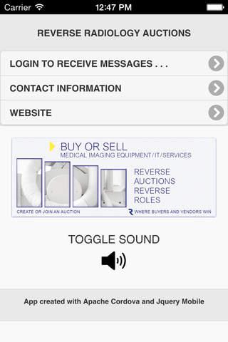 Reverse Radiology Auctions screenshot 1