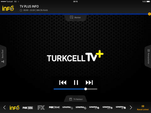 Turkcell TV+ for iPad