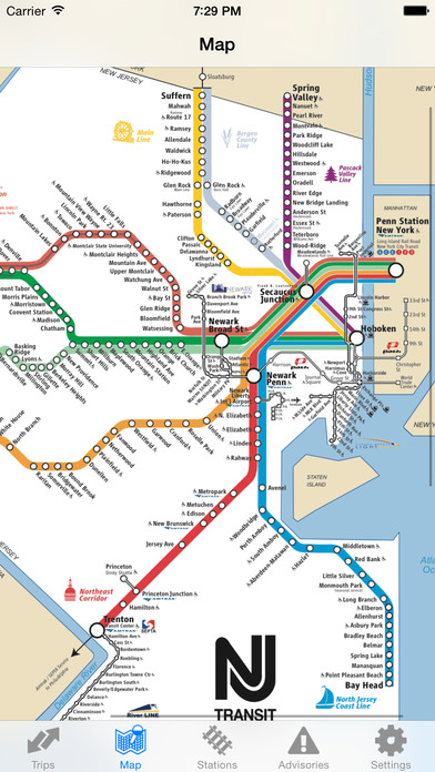 iTrans NJ Transit iPhone Screenshot 3