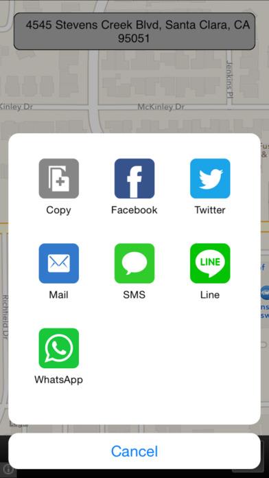 Current Location iPhone Screenshot 2