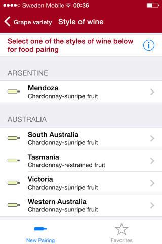 Food for wine pairing pro screenshot 2