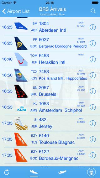 Bristol Airport - iPlane Flight Information