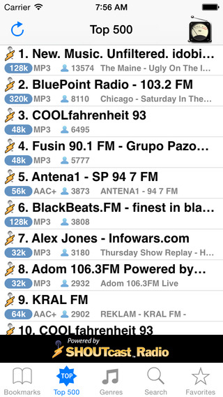 VU Radio iPhone Screenshot 2