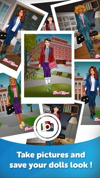 College Girl Dress Up - Fun Doll Makeover Game