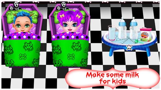Monsters New Born Baby Care Kids Free Games