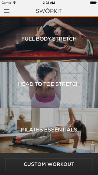 Stretching Sworkit - Increase Flexibilty with Pilates and stretch routines
