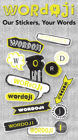 Wordoji Pro = Your Words + Our Stickers With A Quick Sticker Keyboard