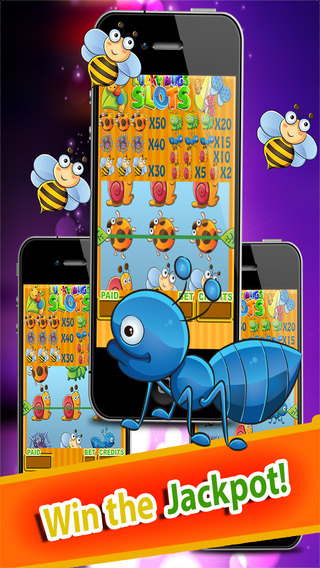 Lucky Bugs Slots Free - Las Vegas Strip Casino Slots Machine Spin The Reels Win