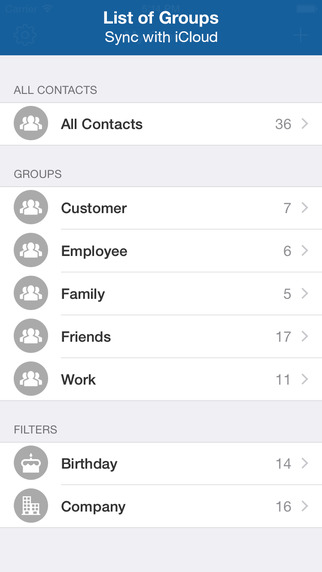 My Groups - Contact Manager Group Text Group Mail Share Contacts