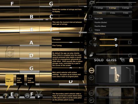 iFretless Sax screenshot