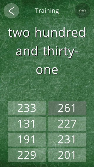 English Numbers Trainer