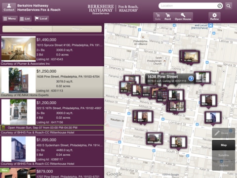 Berkshire Hathaway HomeServices Fox Roach Mobile for iPad