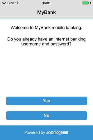 MyBank by briidge.net Connect screenshot 1
