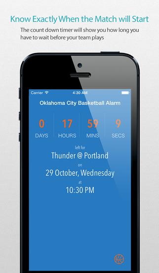 Oklahoma City Basketball Alarm