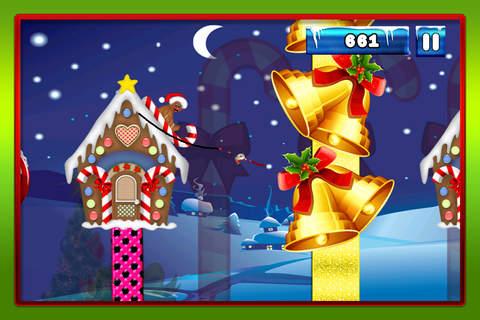 A Merry Christmas Santa Swing : Tight-Rope Tree Swinging Adventure FREE screenshot 2