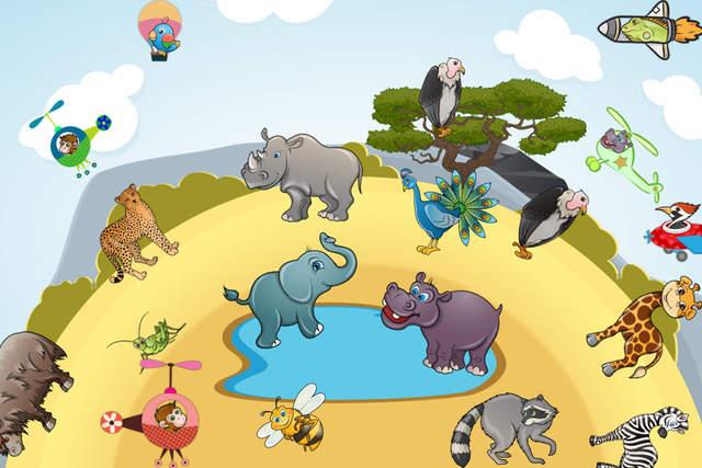 免费儿童益智游戏动物-儿童教育游戏与发音,声音和真实的照片