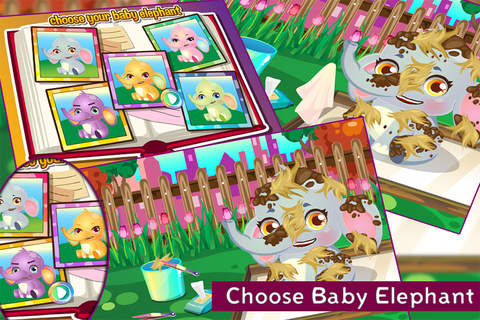 Baby Elephant Care - Free Game For Kids and Adults screenshot 2