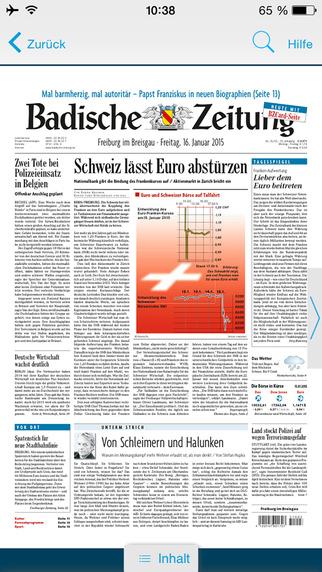 Badische Zeitung für iPad und iPhone