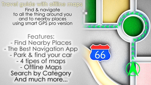 Travel guide with offline maps - Find navigate to all the things around you and to nearby places usi