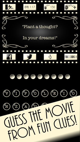 Cine-6 - The Free Original 6 Word Movie Quiz