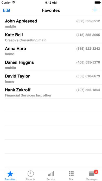 Press8 Mobile Extension Phone iPhone Screenshot 1
