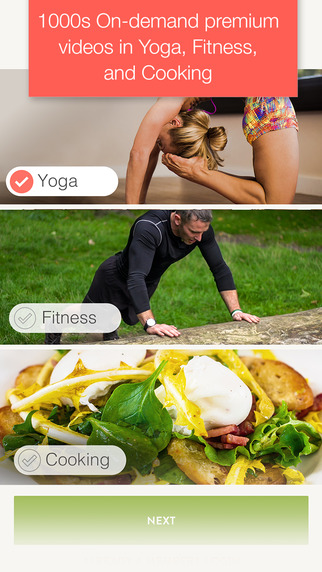 Grokker Yoga Fitness and Cooking Videos