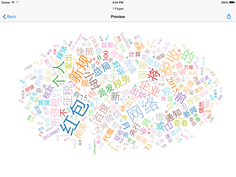Web Sieve - create word cloud based on web pages Screenshots