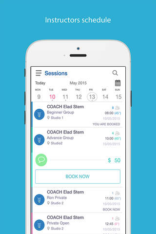 Studenize - Free Classes calendar, messages & appointments Discovery app screenshot 2