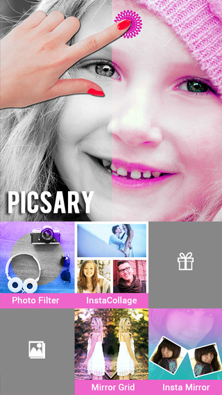 Picsary - Collection Mirror Photo Mirror Grid InstaCollage Photo Filters All in one