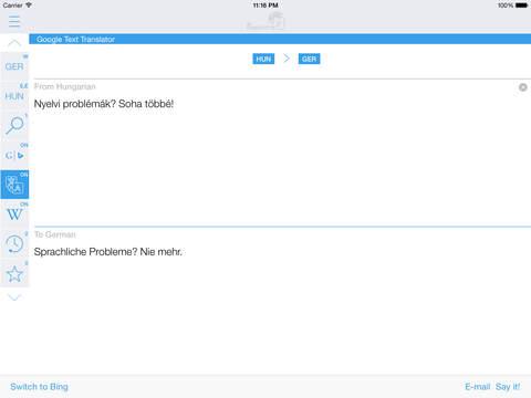 German Hungarian Dictionary & Translator iPad Screenshot 3