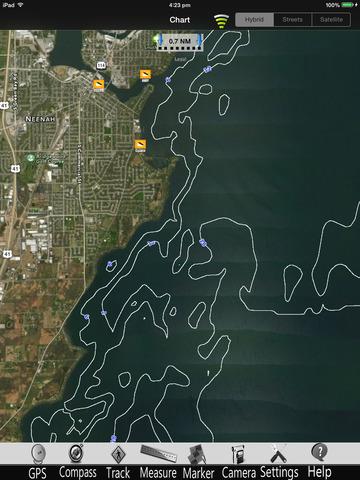 Lake Winnebago Nautical charts pro