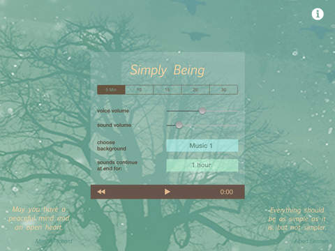 Simply Being - Guided Meditation for Relaxation and Presence iPad Screenshot 1