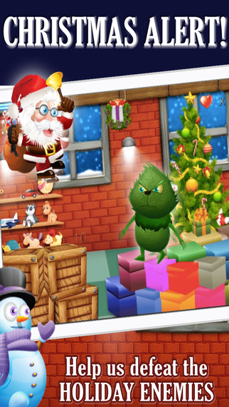 Santa's Christmas Workshop Rescue: Grinch Zombie and Witch Village Knockdown Run
