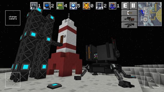 MoonBattle - Space Block Survival Shooter 3D Pixel Game