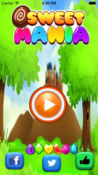 Sweet Mania Star Deluxe-Pop and Match 3 candies Puzzle game.
