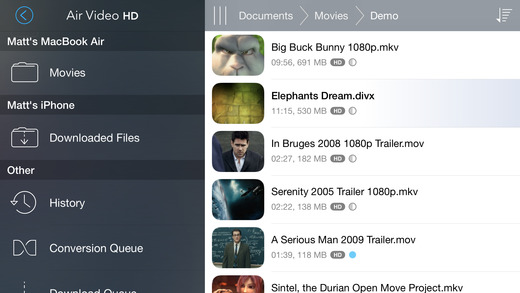 Air Video HD - Now with multitasking and PiP support! Screenshot