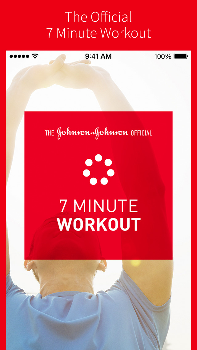 The Johnson & Johnson Official 7 Minute Workout App screenshot 1
