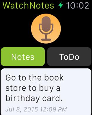 WatchNotes - Notes/Memo/Todo/Checklist for Apple Watch Screenshots