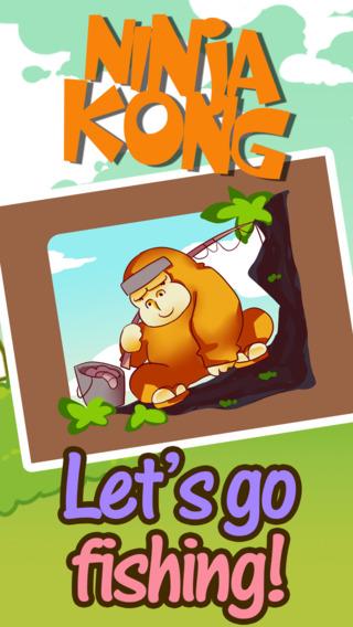 Amazing Ninja Kong Fishing HD - When Bananas Doesn't Grow On Tree
