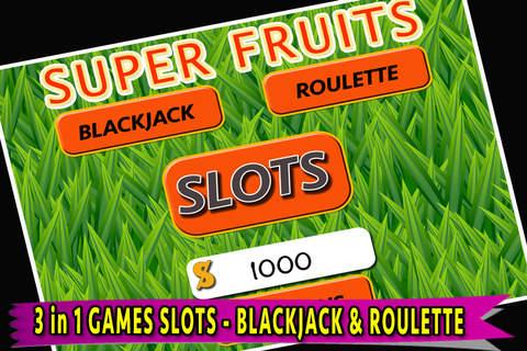 SLOTS Super Fruit Casino Pro - Best New Slots Game of 2015! screenshot 2