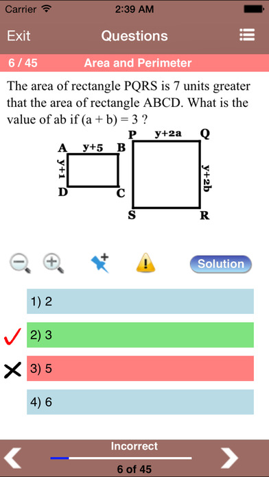 ACT Math Aptitude iPhone Screenshot 3