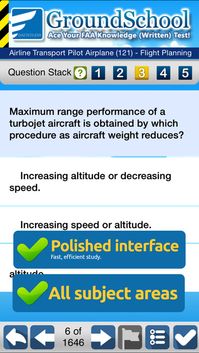 GroundSchool FAA Knowledge Test Prep - Airline Transport Pilot iPhone Screenshot 3