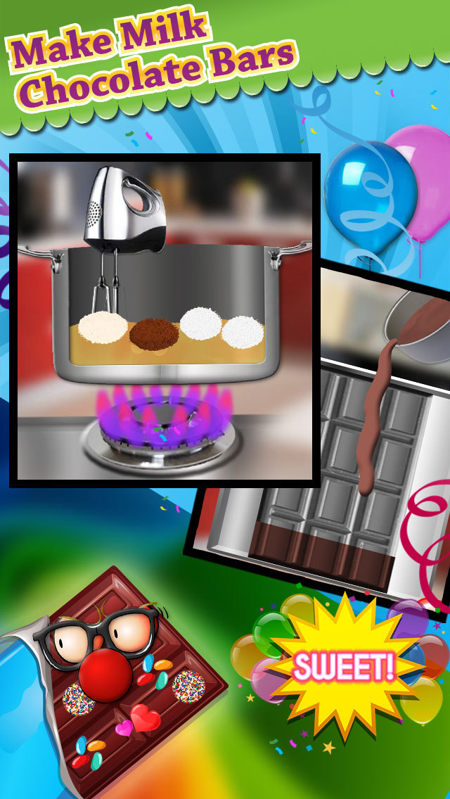 Chocolate candy bar maker game make decorate eat for Food bar games free online