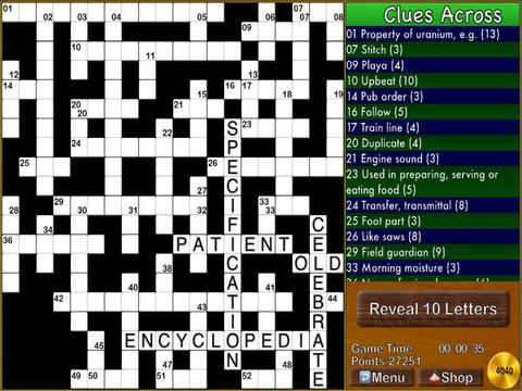 Multiplayer Crossword Puzzle HD FREE screenshot