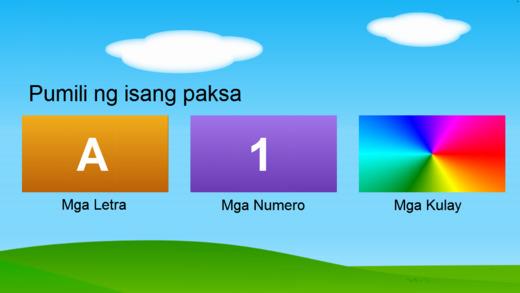 Mga Letra at Numerong Tagalog - Tagalog Letters Numbers Colors Free