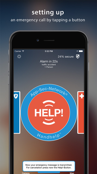 HandHelp - EMERGENCY CALL SOS APP - directly within seconds barrier-free...