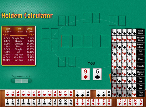 Poker hand strength calculator free